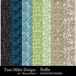 Selfie TM Engraved Papers-$1.99 (Tami Miller)