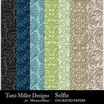 Selfie TM Engraved Papers-$1.40 (Tami Miller)