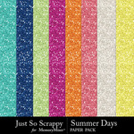 Summer days glitter papers small