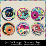 Summer Days Cluster Seals Pack-$1.99 (Just So Scrappy)