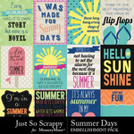 Summer Days Pocket Cards Pack-$1.40 (Just So Scrappy)