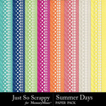 Summer Days Pattern Paper Pack-$1.40 (Just So Scrappy)