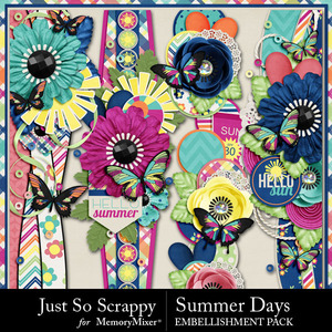 Summer days page borders medium