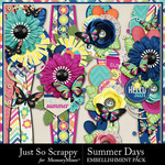 Summer days page borders small
