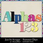 Summer days alphabets small