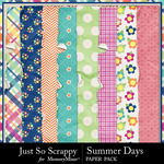 Summer Days Worn and Torn Papers-$1.99 (Just So Scrappy)