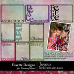 Joyous Word Frames Pack-$3.49 (Fayette Designs)