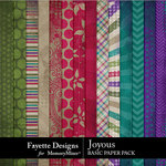 Joyous Basic Paper Pack-$3.99 (Fayette Designs)