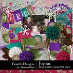 Joyous Basic Embellishment Pack-$3.99 (Fayette Designs)