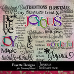 Joyous WordArt Pack-$3.99 (Fayette Designs)