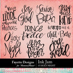 Inkjam O Holy Night WordArt Pack-$3.99 (Fayette Designs)