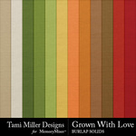 Grown with love burlap solids small