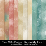 Key to my heart painted overlays small