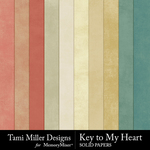 Key to My Heart Solid Papers-$3.99 (Tami Miller)