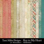 Key to My Heart Paper Pack-$3.99 (Tami Miller)