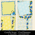 Cool Summer Stacked Paper Pack-$2.99 (CutiePie Scraps)