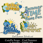 Cool Summer WordArt Pack-$2.99 (CutiePie Scraps)