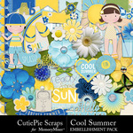 Cool Summer Embellishment Pack-$2.99 (CutiePie Scraps)