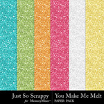 You Make Me Melt Glitter Paper Pack-$1.99 (Just So Scrappy)
