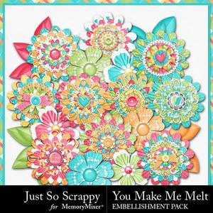 You make me melt layered flowers medium
