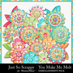 You Make Me Melt Layered Flowers-$1.99 (Just So Scrappy)