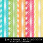 You Make Me Melt Pattern Papers-$1.99 (Just So Scrappy)