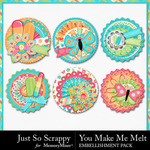 You Make Me Melt Cluster Seals Pack-$1.99 (Just So Scrappy)