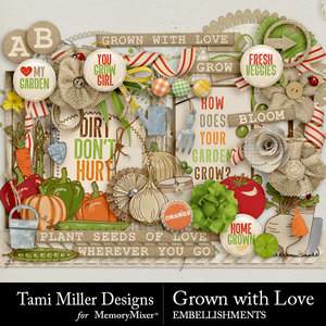 Grown with love embellishments medium