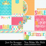 You Make Me Melt Pocket Cards Pack-$1.99 (Just So Scrappy)