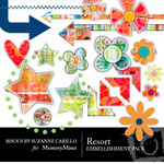 Resort Embellishment Pack-$2.99 (Bisous By Suzanne Carillo)
