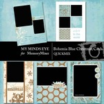 Bohemia Blue Christmas Cards QM-$3.99 (My Minds Eye)