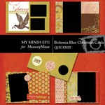 Bohemia Red Christmas Cards QuickMix-$3.99 (My Minds Eye)