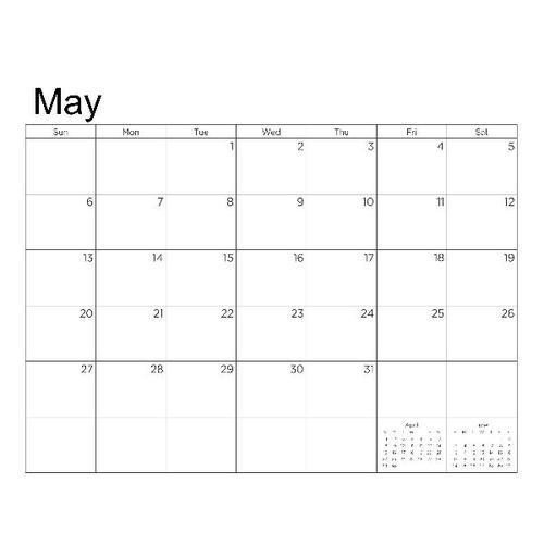 2018 Calendar Template Landscape Scrapbook Page Design