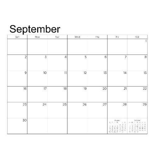 2018 landscape calendar grid prev p010 small