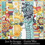 Gettin Wet Page Border Pack-$1.99 (Just So Scrappy)