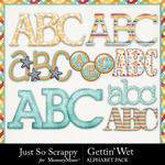 Gettin Wet Alphabet Pack-$3.49 (Just So Scrappy)