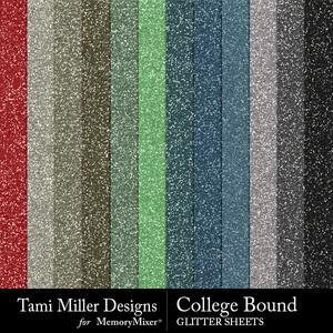 College bound glitter sheets medium