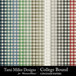 College bound gingham papers small