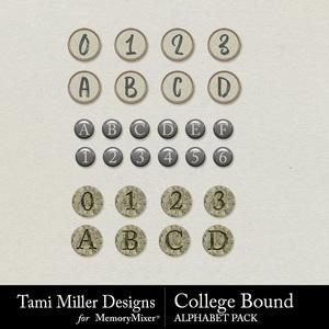 College bound alphabet pack medium