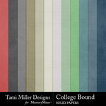 College Bound Solid Paper Pack-$2.99 (Tami Miller)