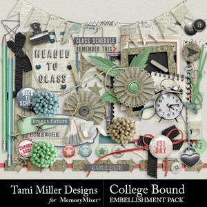 College bound embellishment pack medium