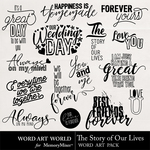 The Story of Our Lives WordArt-$1.75 (Word Art World)