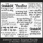 Jumpstart Your July 2017 WordArt Pack-$2.80 (Jumpstart Designs)