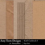 Kraft Cardstock 4 Paper Pack-$3.49 (Amy Teets)