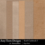 Kraft Cardstock 3 Paper Pack-$3.49 (Amy Teets)