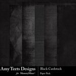 Black Cardstock Paper Pack-$3.49 (Amy Teets)