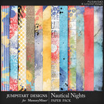 Nautical Nights Blended Paper Pack-$3.99 (Jumpstart Designs)