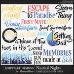 Nautical Nights WordArt Pack-$3.99 (Jumpstart Designs)