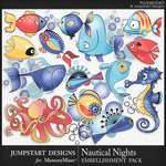 Nautical Nights Marine Life Pack-$3.99 (Jumpstart Designs)