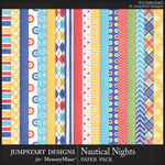 Nautical Nights Paper Pack-$3.99 (Jumpstart Designs)
